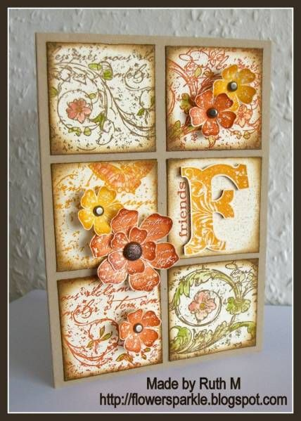 from FubsyRuth from Splitcoaststampers. I liked the use of the colours and the squares.
