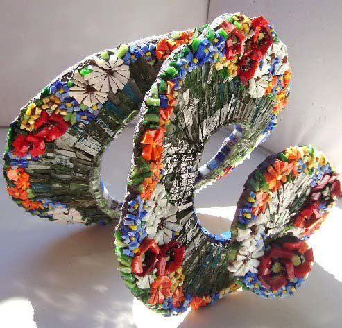 111 best mosaic jewelry images on pinterest for Sculpture contemporaine