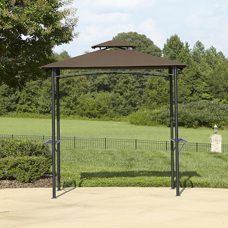 BBQ Pro Grill Gazebo With Folding Shelves And Fabric Canopy   Outdoor  Living   Grills U0026 Outdoor Cooking   Grill Parts U0026 Accessories
