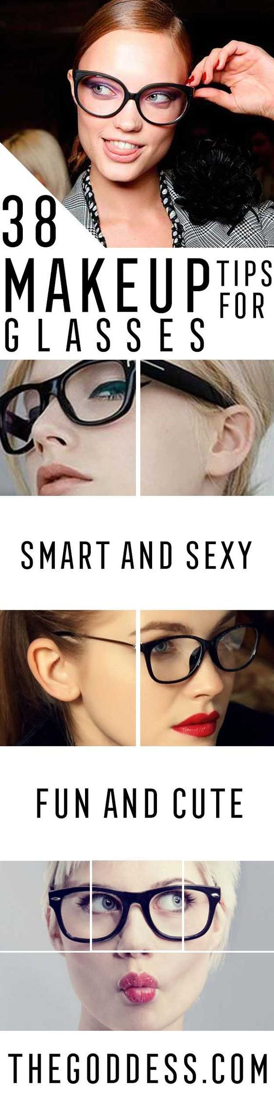 Makeup Tips For Glasses - Simple Step by Step Tutorials for People with Eye Glasses - Easy Beauty Tips for Different Face Shapes, Make Up Ideas and Awesome Hairstyles for Different Types of Eyeglasses - Eyeliner, Foundation, and Nail Art Ideas that Go Gre