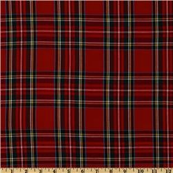 Kaufman House of Wales Plaid Shirting Red