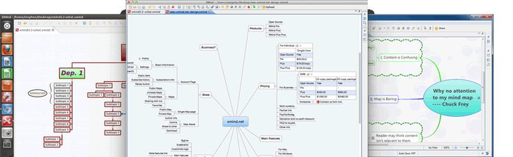 XMind is mind-mapping software with iconos, labels, lines, notes, boundries, fishbones (for timelines!!), Gantt Charts, and easy import, export, pdf, word, ppts, and embed options.  It is open source, so it is free to download and use.