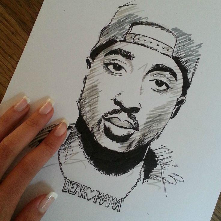 2pac Drawing