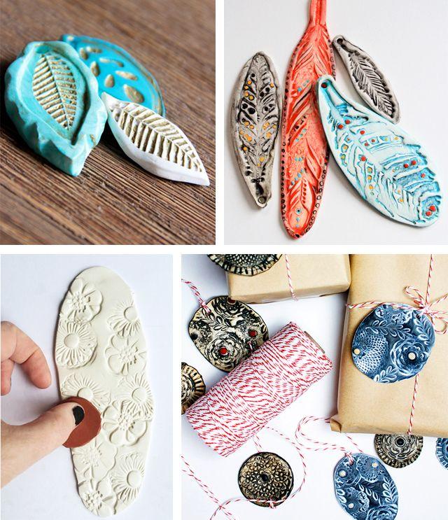 alisaburke: handmade clay stamps  Fimo clay!