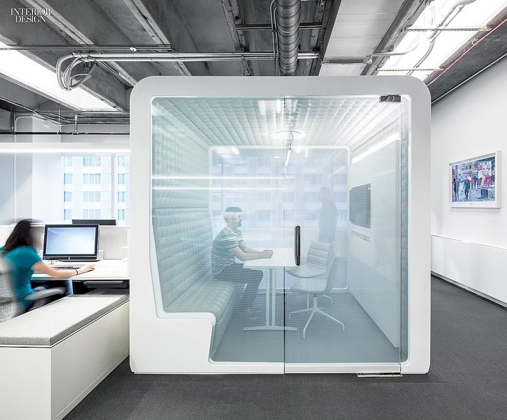IHeart Media HQ Office, Vinyl film covers the glass front of a meeting room. #office