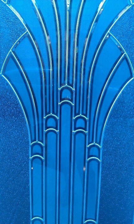A Most Beautiful Blue Art Deco Pattern Art Deco Glass