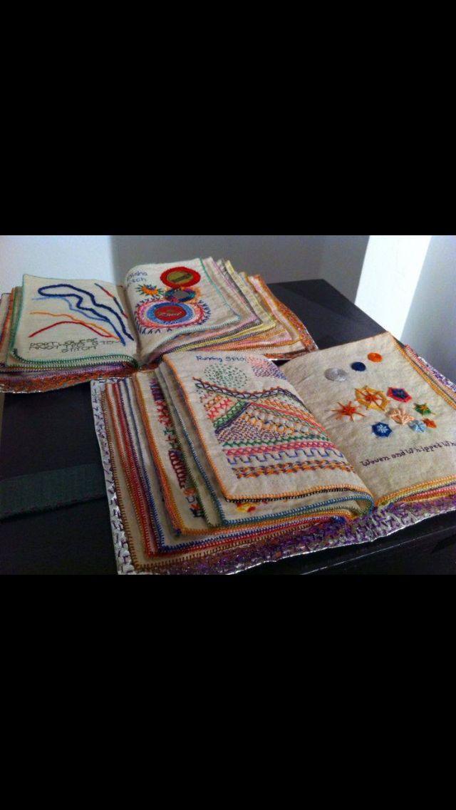 Embroidery sampler book. Livro bordado