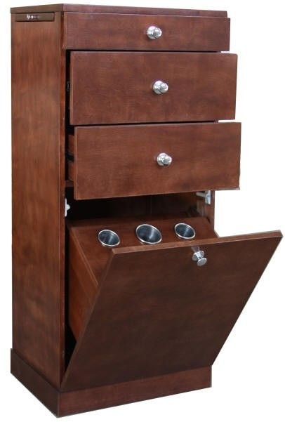 Affordable Salon Stations | Styling Stations Salon Furniture Equipment Cherry Wood Cabinet