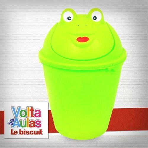 Quarto de criança fofa é assim: até a lixeirinha é especial! Essa de sapinho você encontra na Le biscuit. ♥