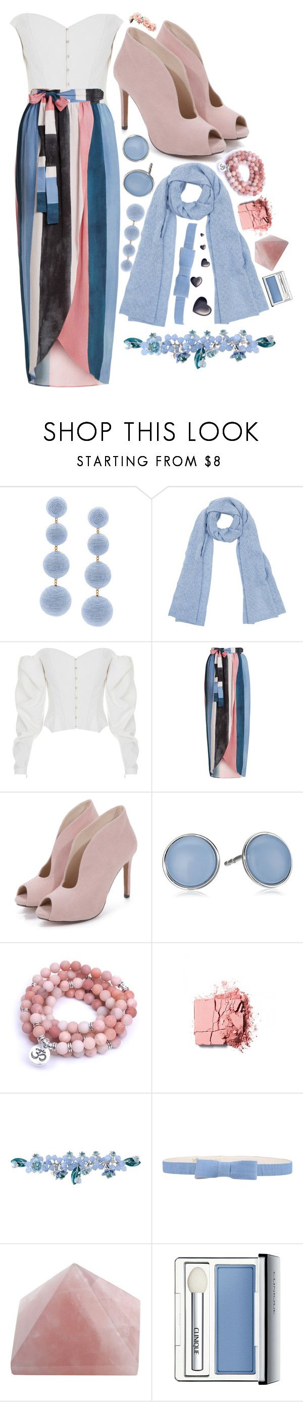 """""""Water"""" by aine-says-hi ❤ liked on Polyvore featuring Rebecca de Ravenel, Kinross, ElenaReva, Mara Hoffman, Skagen, Sretsis, See by Chloé and Clinique"""