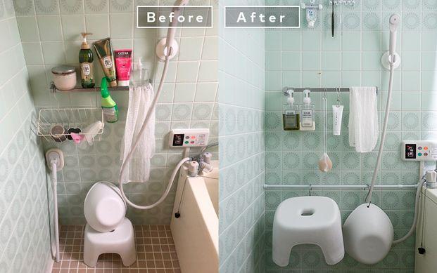 洗面所がスッキリ 賃貸でもできる模様替えテク バスルーム 収納