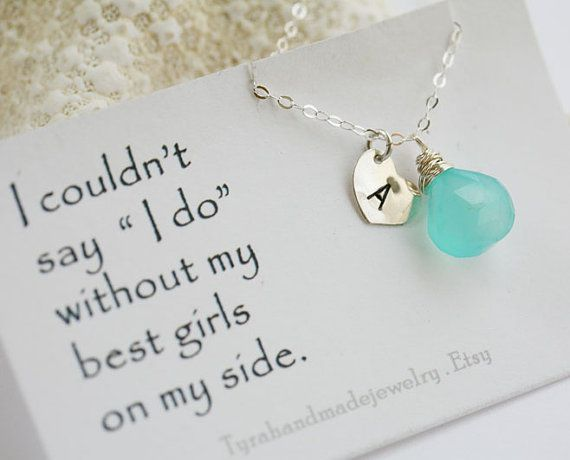 Honor Or Honour On Wedding Invitations: Set Of 6,Bridesmaid Cards With Necklace,Bridesmaid Thank