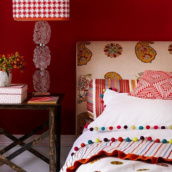 Vibrant and peaceful at the same time - Mix and match patterns || Housetohome.co.uk