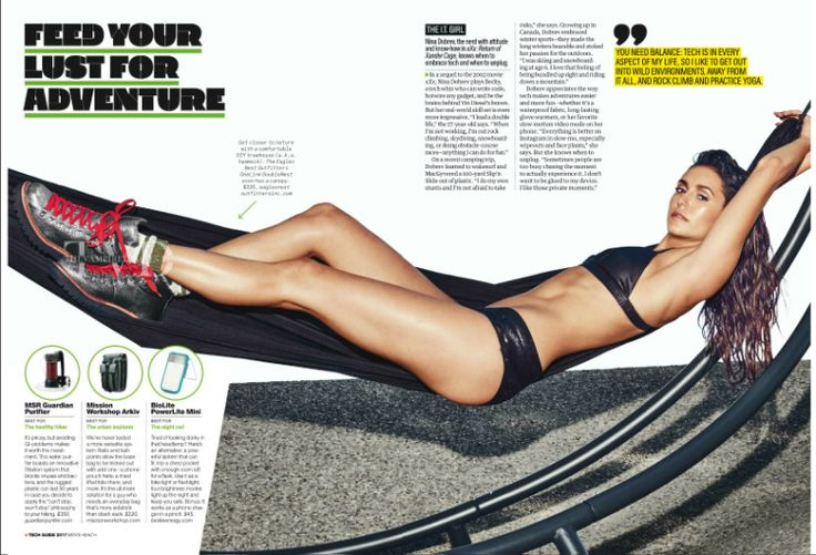 Nina Dobrev for Men's Health Magazine Tech Guide 2017