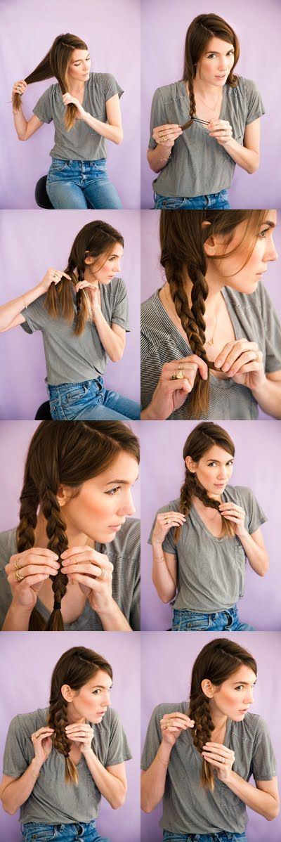 mermaid tail braid tutorial. hair style braid