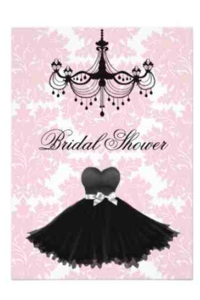 pink black and white bridal shower invitations%0A My bridal shower invite   Little black dress themed  everything pink  black  and