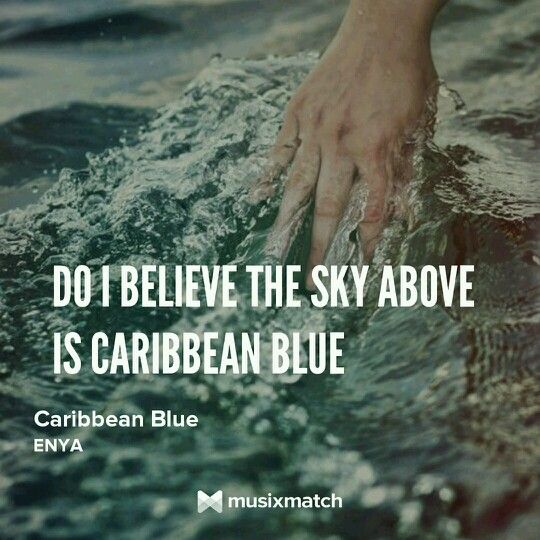 I believe the sky above is Carribean Blue ♡ Enya ...