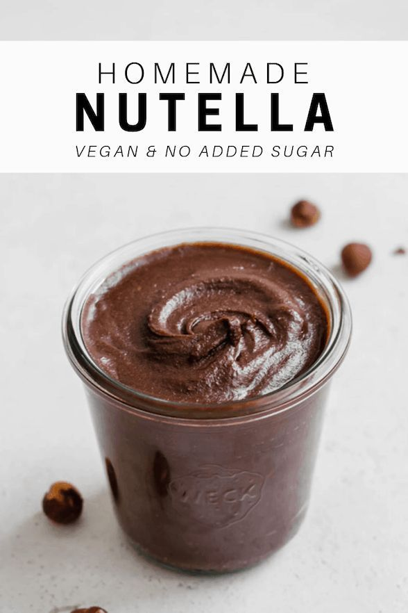 Enjoy this easy, homemade Nutella for breakfast or a snack. It's vegan, dairy-free and has no sugar added!