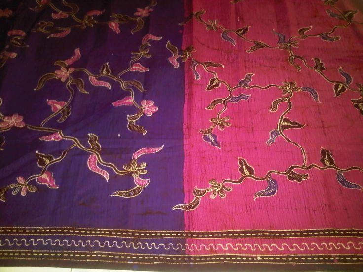 Batik tulis pagi-sore (purple n' pink)