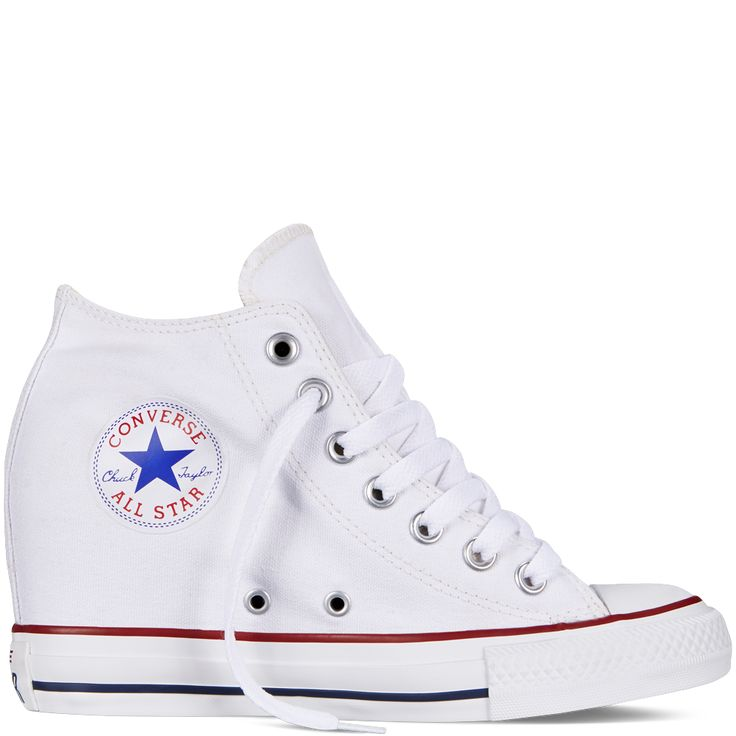 Chuck Taylor All Star Lux Wedge white. Totally using these shoes for my wedding