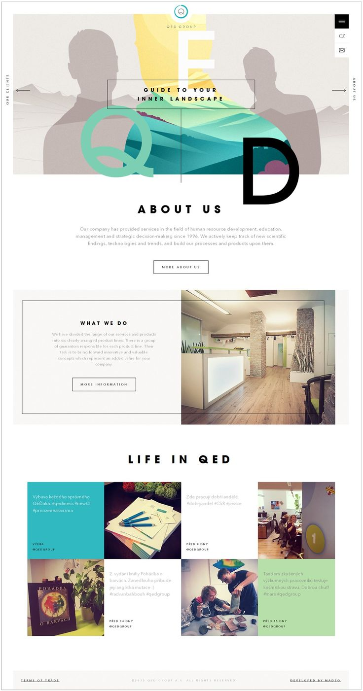 pretty colored web design