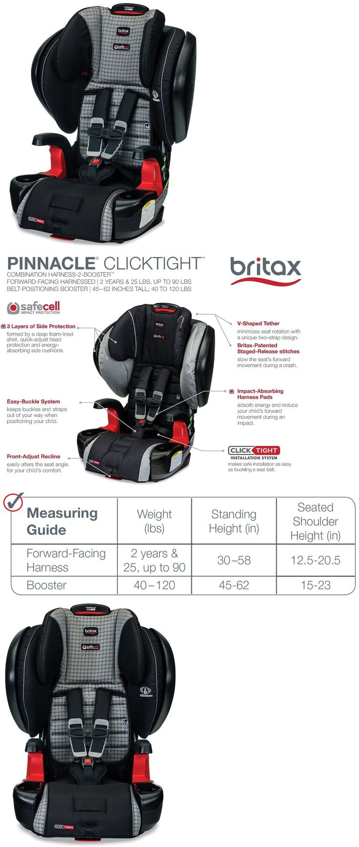 Other Car Safety Seats 2987: Britax Pinnacle Clicktight Combination Harness-2-Booster Car Seat 2017 Venti -> BUY IT NOW ONLY: $312 on eBay!