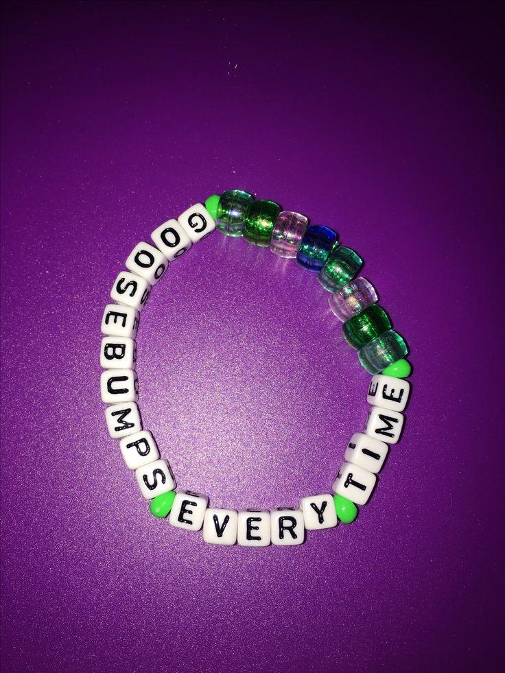 #Igetthosegoosebumpseverytime #kandi #bracelet #goosebumps #green #ravewear