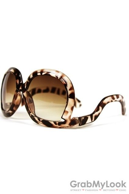 GrabMyLook Leopard Wild Animal Print Inverted Frames Sunglasses Eyewear