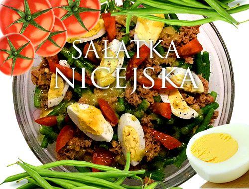 Sałatka nicejska - przepis, sałatka z tuńczykiem i fasolką szparagową