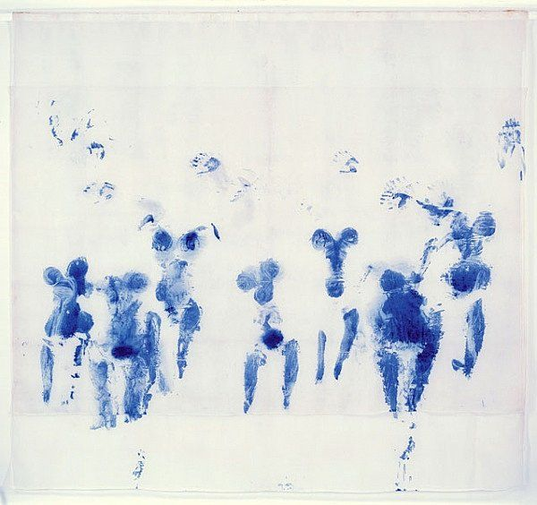 @Hilary Hilpert this is one of my favorite's called 'SUAIRE DE MONDO CANE' by YVES KLEIN.  I thought of it when I saw the Blue Nude you posted.