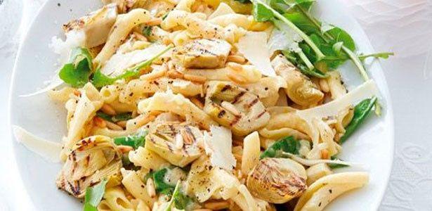 Creamy artichoke and pine-nut pasta