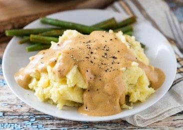 Heather McDougall - Forks Over Knives - Vegan mashed potatoes and gravy