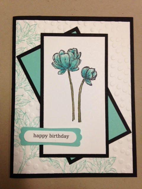 Bloom with Hop, Birthday Card, Stampin' Up!, Rubber Stamping, Handmade cards