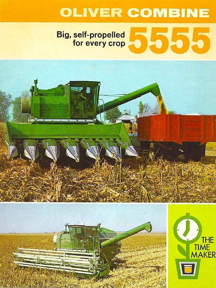 OLIVER 5555 Combine Ad