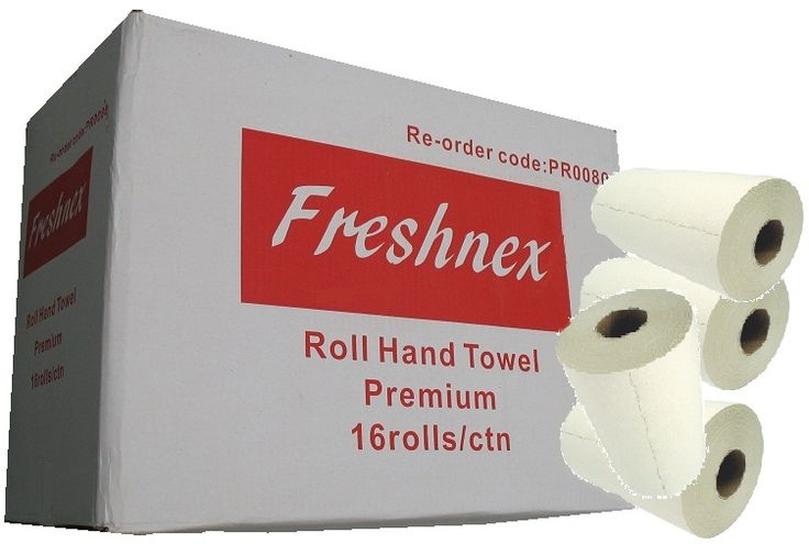 This is Freshnex Freshnex PR0090CW Box Of 16 Paper Towel Roll 80m length, Suitable for paper roll dispensers RD838, R001W & R001S  Available in Australia