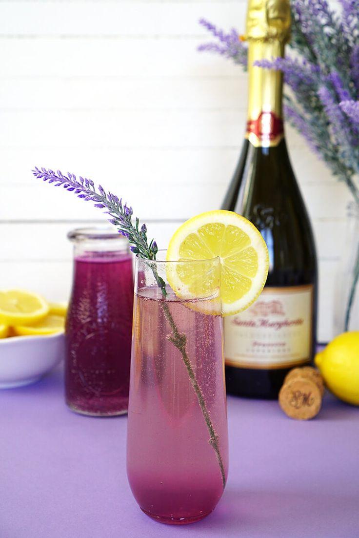 Lavender Lemonade Prosecco Cocktails + DIY Ombre Glitter