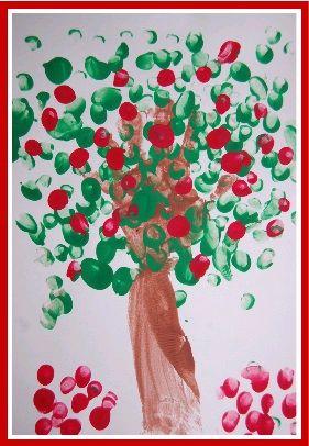 Apple handprint craft