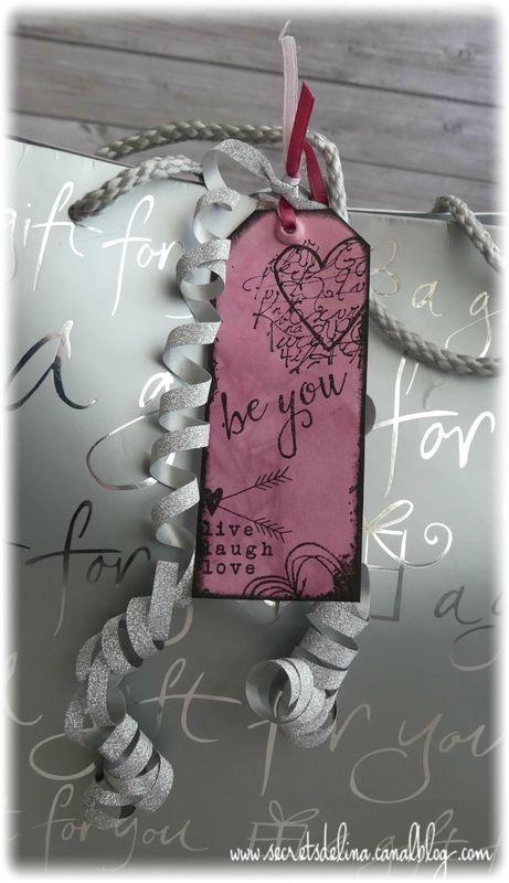Etiquette encre rose pink et noir dark love #secretsdelina
