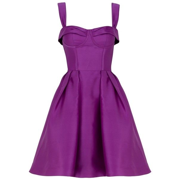Corset Boudoir Dress Violet ($655) ❤ liked on Polyvore featuring dresses, vestidos, purple, short dresses, women, below the knee dresses, purple dress, purple corset, violet dress and short corset dresses
