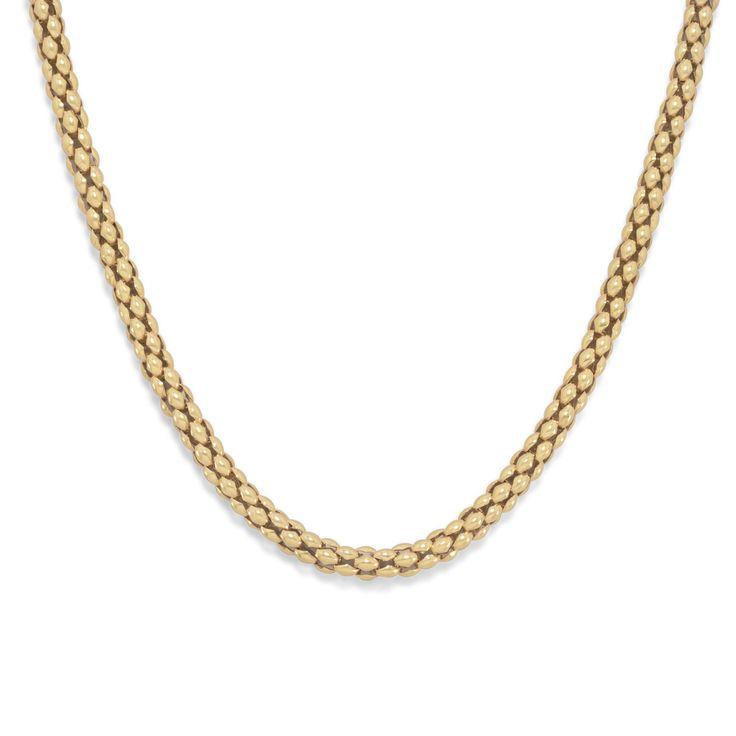 14 Karat Gold Plated Coreana Chain Necklace