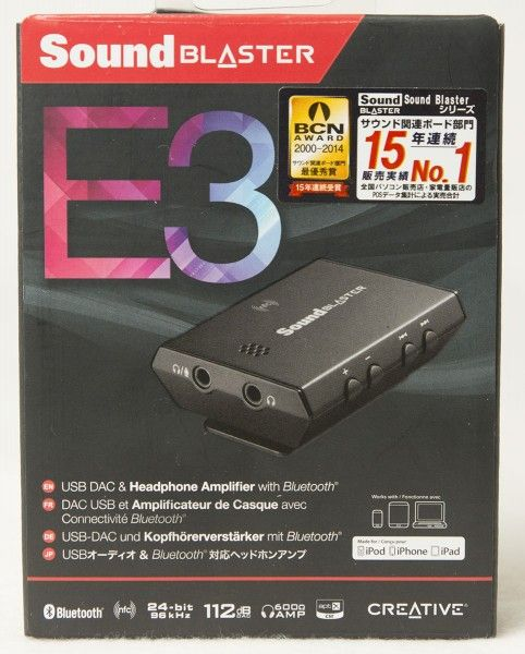Creative Sound Blaster E3 USB DAC and Headphone Amplifier