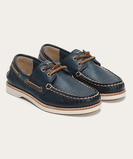e01a13ba Frye Boy's Sully Boat Shoes Uniform Leather Blue Size 1 NWT $98 | My ...