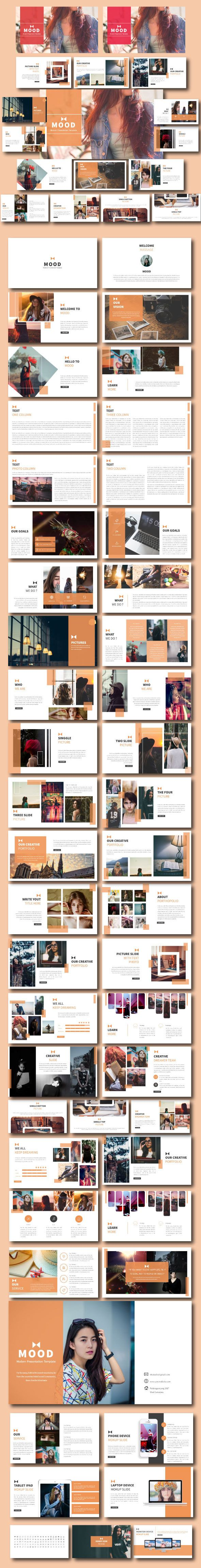 Mood Creative Google Slide Template - #Google #Slides #Presentation Templates