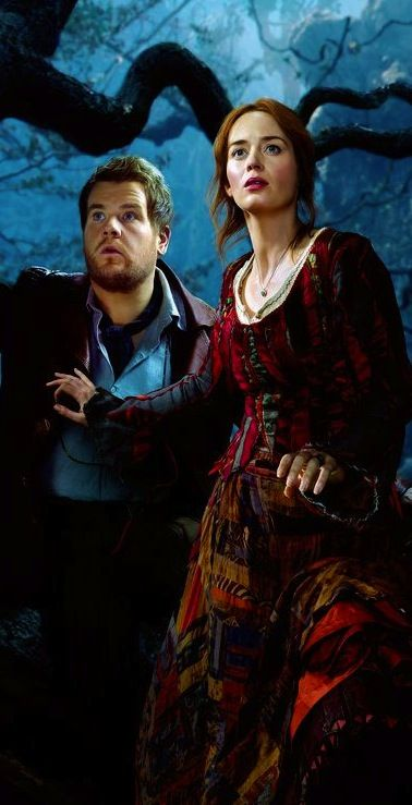 Emily Blunt and James Corden as The Baker and The Baker's Wife in 'Into the Woods' (2014).