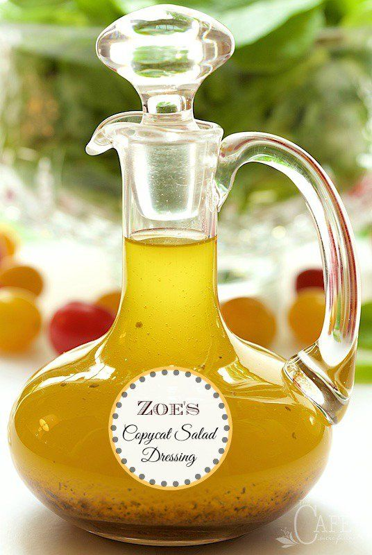 Zoe's Copycat Salad Dressing - if you've never been to Zoe's Kitchen, you'll flip over this delicious dressing. If you've been there, I know you'll be quite thrilled to have this recipe! www.thecafesucrefarine.com