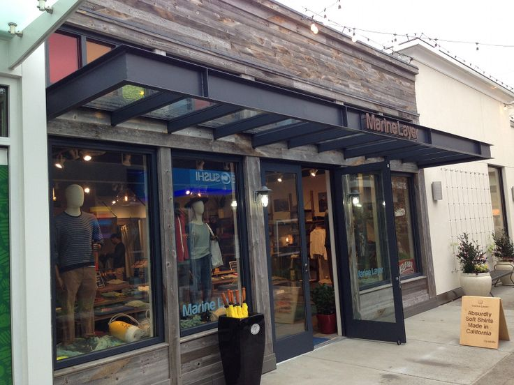 Marine layer in rainy seattle has used our prairie board for Exterior design of a retail store