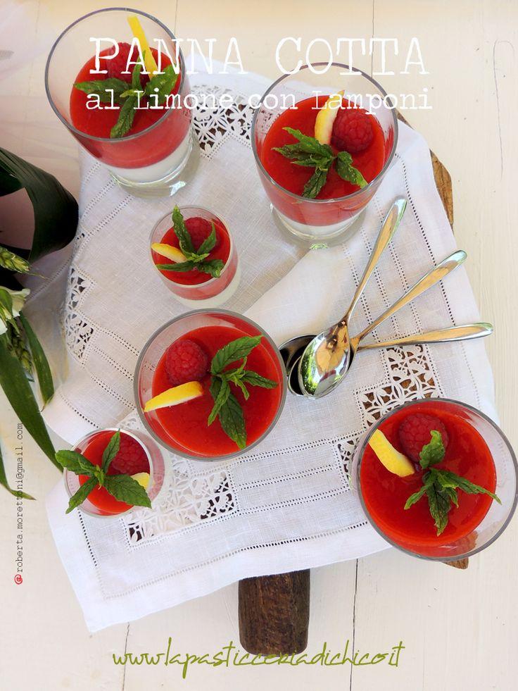 #PannaCottaallimoneelamponi #Pannacottawithraspberry  #Raspberry #Lemon Trovate qui la ricetta: http://www.lapasticceriadichico.it/2015/06/panna-cotta-al-limone-con-lamponi.html