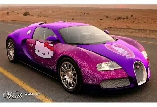 purple hello kitty car hello kitty style pinterest cars hello kitty car and hello kitty. Black Bedroom Furniture Sets. Home Design Ideas