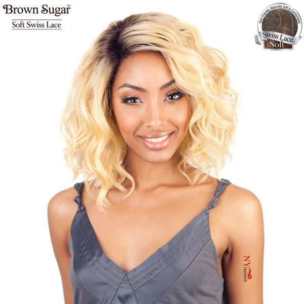 ISIS Brown Sugar Human Hair Blend Soft Swiss Lace Front Wig - BS206
