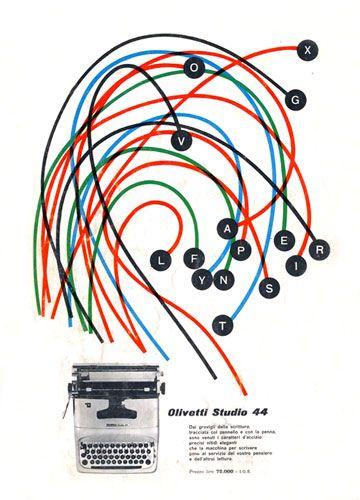 Olivetti Studio 44 Advertising by ninonbooks, via Flickr